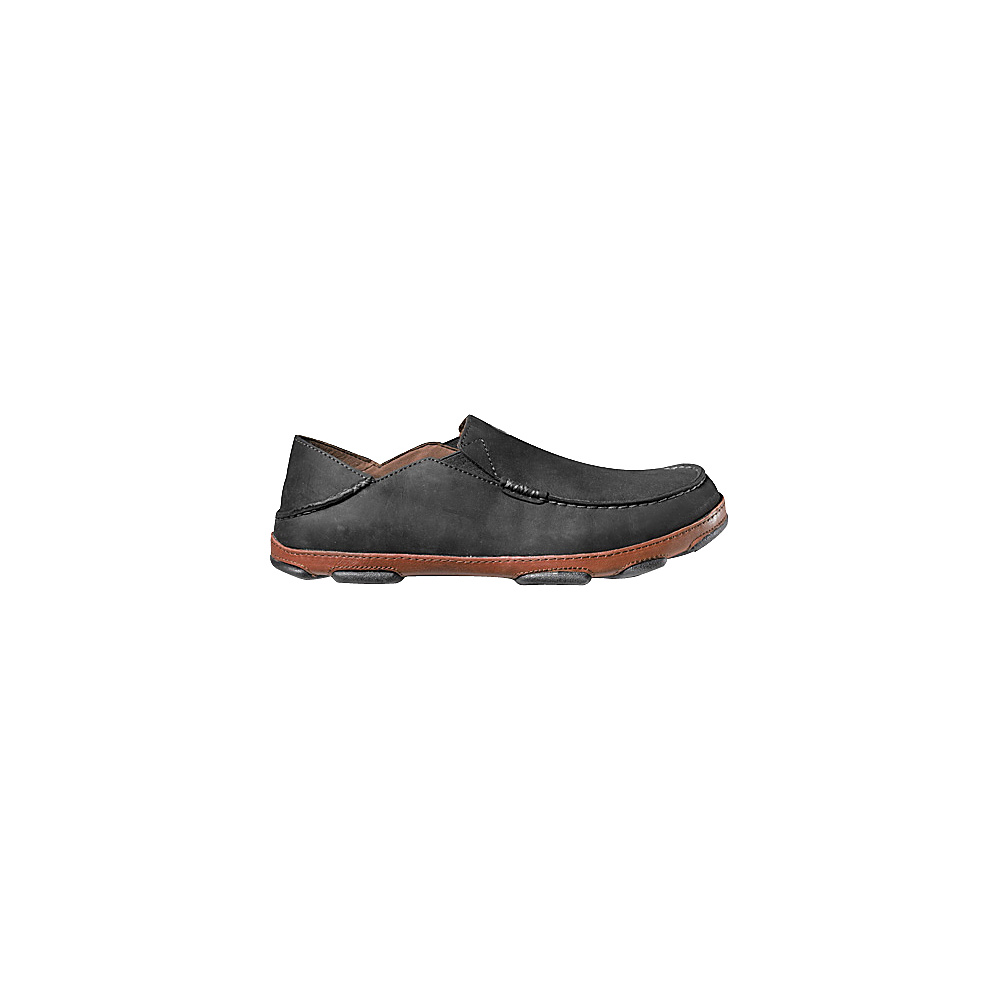 OluKai Mens Moloa Slip-On 9 - Black/Toffee - OluKai Mens Footwear - Apparel & Footwear, Men's Footwear