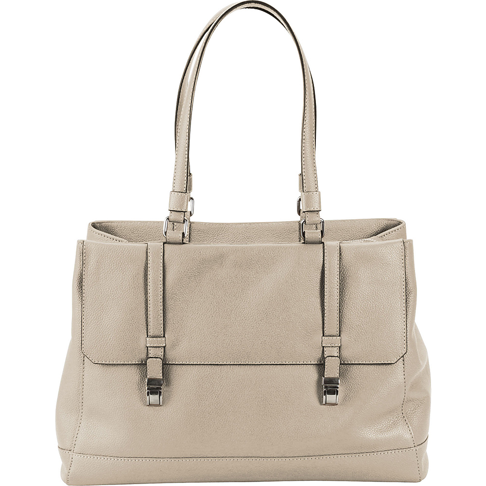 Hadaki Lady Urban Large Tote Pearl Gray - Hadaki Leather Handbags - Handbags, Leather Handbags