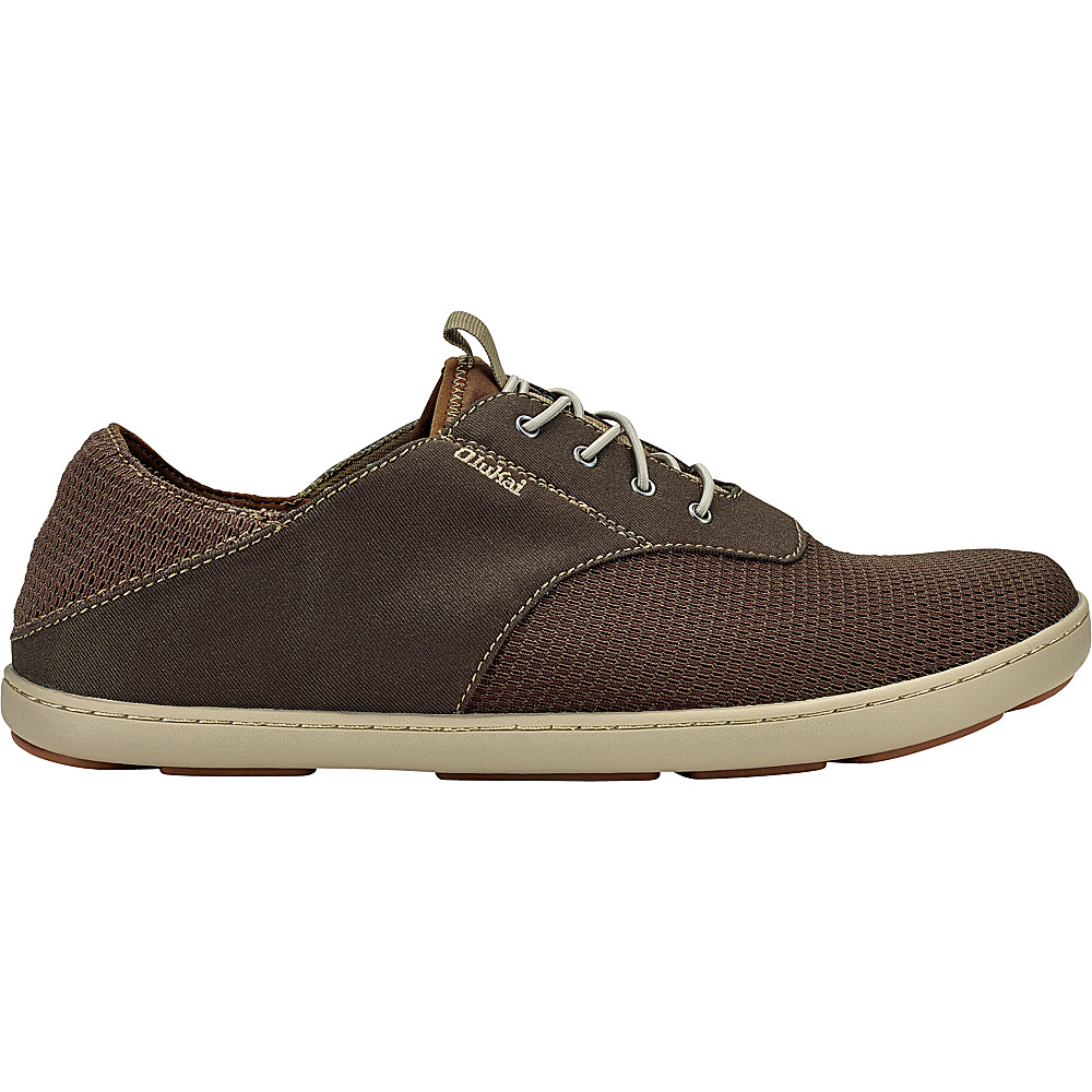 OluKai Mens Nohea Moku Sneaker 8 - Dark Wood/Dark Wood - OluKai Mens Footwear - Apparel & Footwear, Men's Footwear