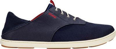 OluKai Mens Nohea Moku Sneaker 11.5 - Trench Blue/Deep Red - OluKai Men's Footwear