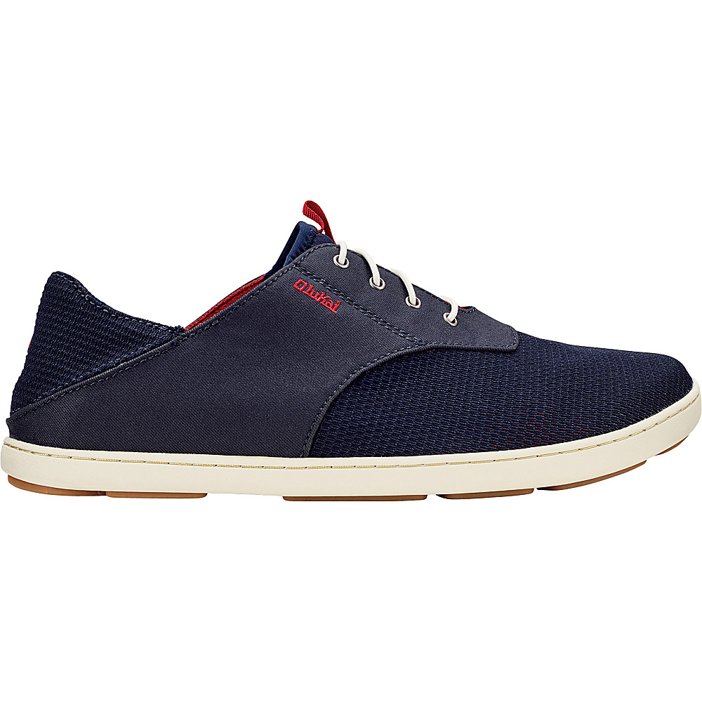 OluKai Mens Nohea Moku Sneaker 10 - Trench Blue/Deep Red - OluKai Mens Footwear - Apparel & Footwear, Men's Footwear