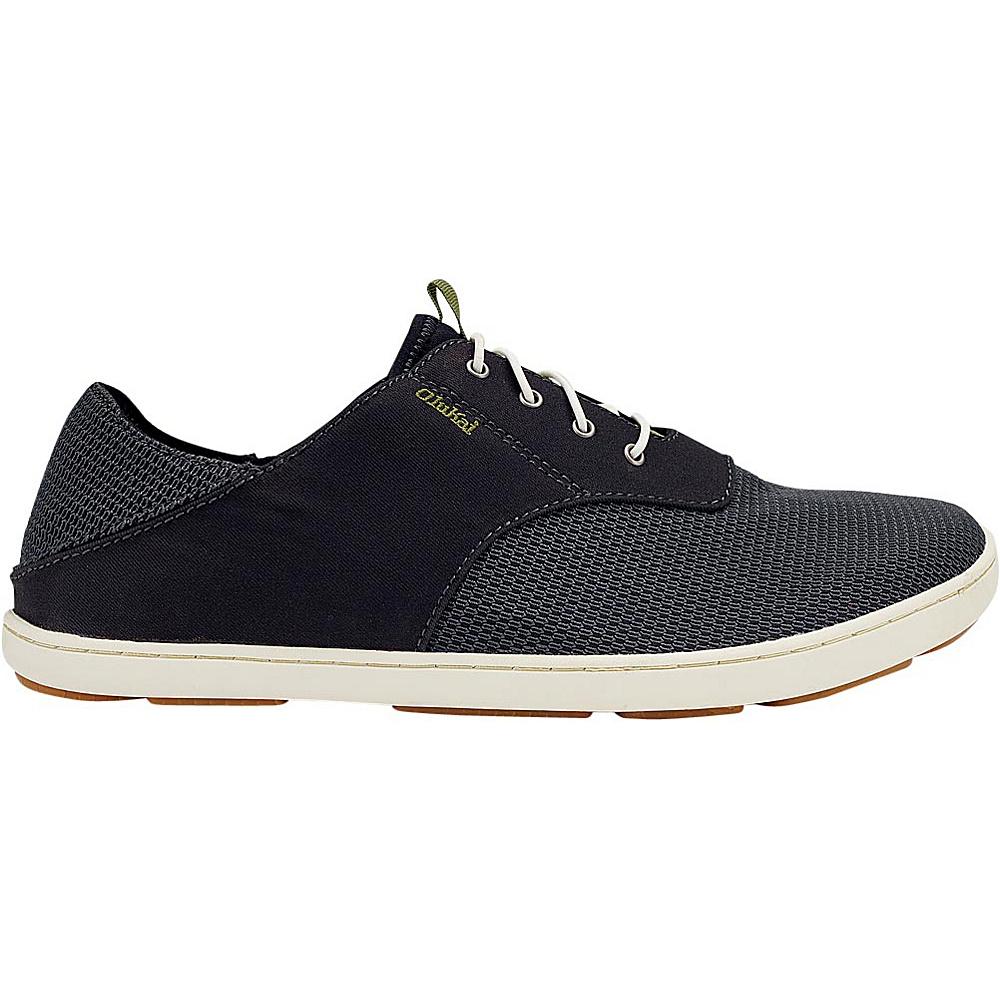 OluKai Mens Nohea Moku Sneaker 8 - Black/Black - OluKai Mens Footwear - Apparel & Footwear, Men's Footwear