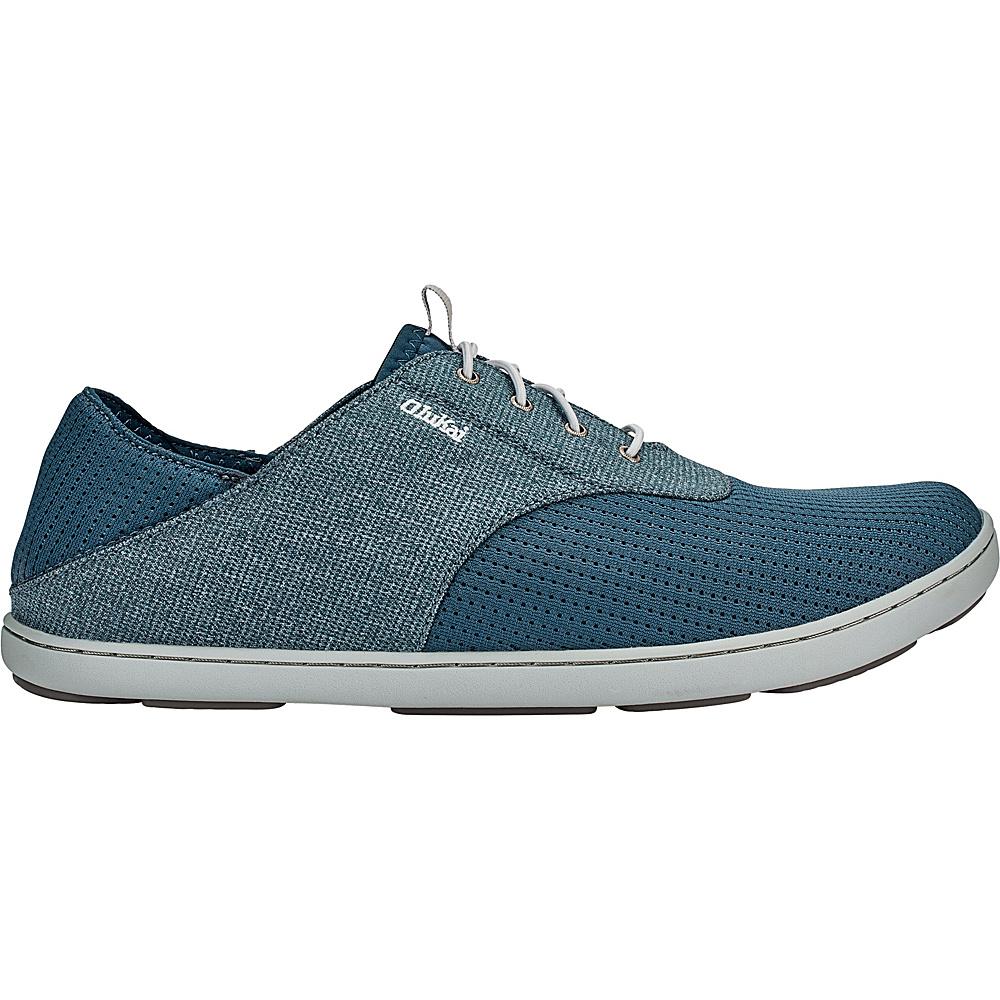 OluKai Mens Nohea Moku Sneaker 14 - Stormy Blue/Stormy Blue - OluKai Mens Footwear - Apparel & Footwear, Men's Footwear
