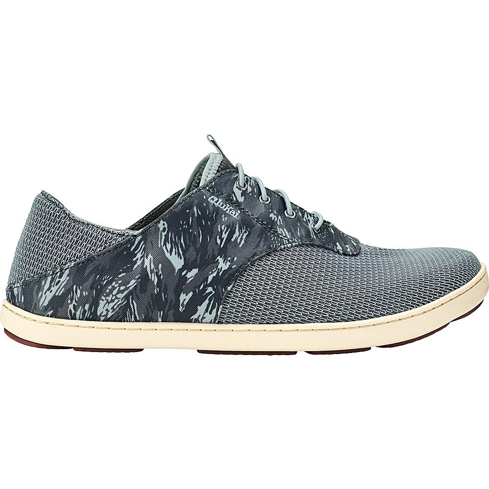 OluKai Mens Nohea Moku Sneaker 9 - Charcoal/Dive Camo - OluKai Mens Footwear - Apparel & Footwear, Men's Footwear