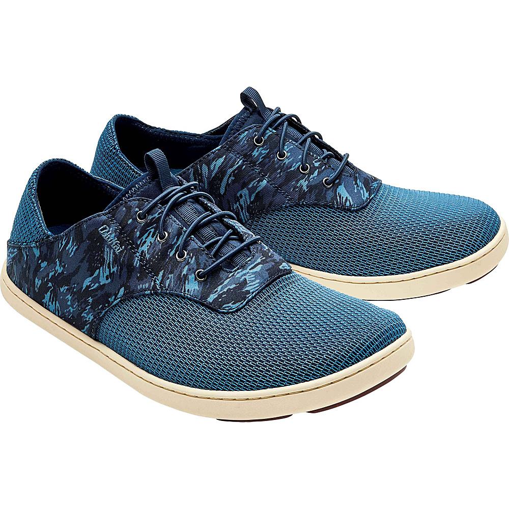OluKai Mens Nohea Moku Sneaker 12 - Trench Blue/Dive Camo - OluKai Mens Footwear - Apparel & Footwear, Men's Footwear
