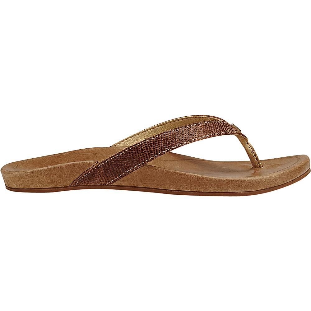 OluKai Womens HiOna Sandal 6 - Tan/Tan - OluKai Womens Footwear - Apparel & Footwear, Women's Footwear