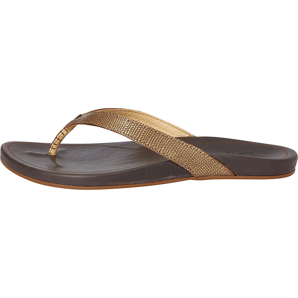OluKai Womens HiOna Sandal 9 - Bronze/Dark Java - OluKai Womens Footwear - Apparel & Footwear, Women's Footwear