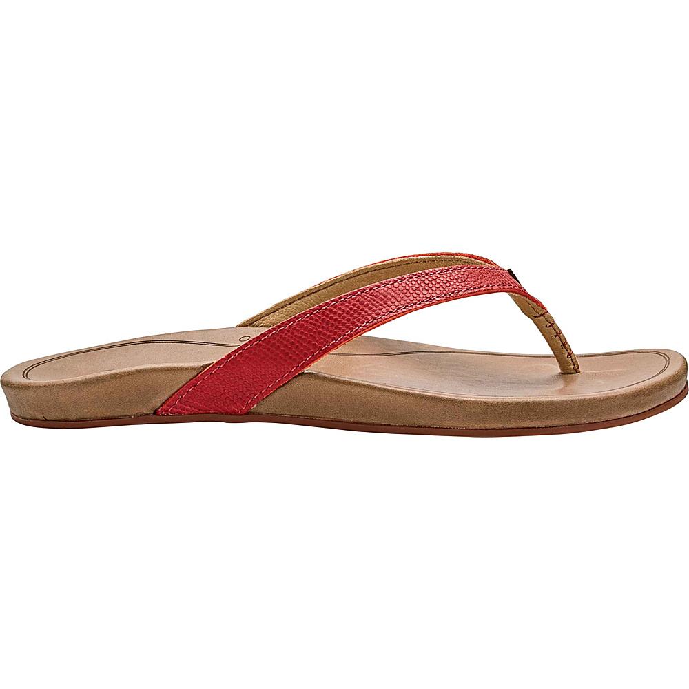 OluKai Womens HiOna Sandal 5 - Paprika/Tan - OluKai Womens Footwear - Apparel & Footwear, Women's Footwear