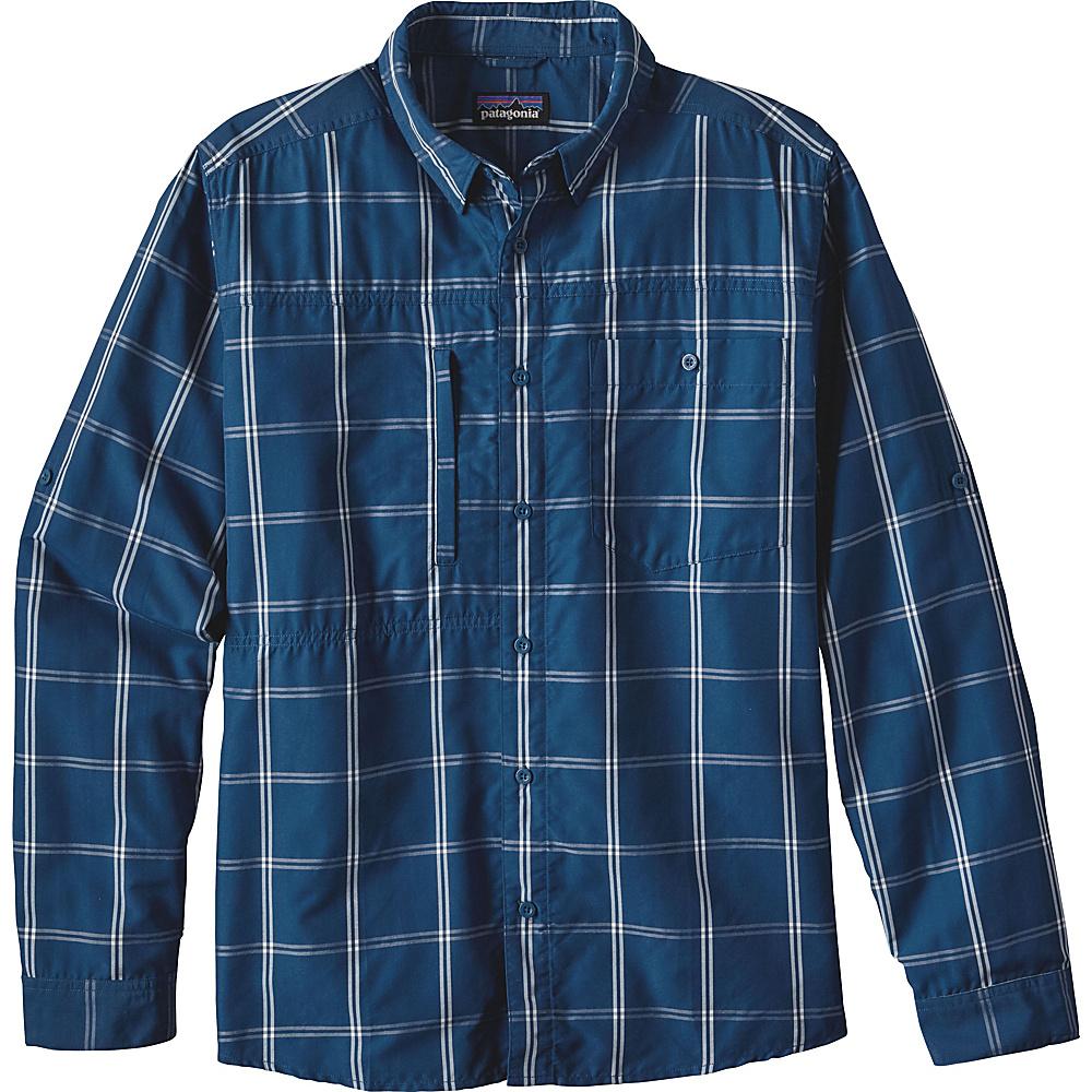 Patagonia Mens Long Sleeve Gallegos Shirt XS - Headwaters: Big Sur Blue - Patagonia Mens Apparel - Apparel & Footwear, Men's Apparel