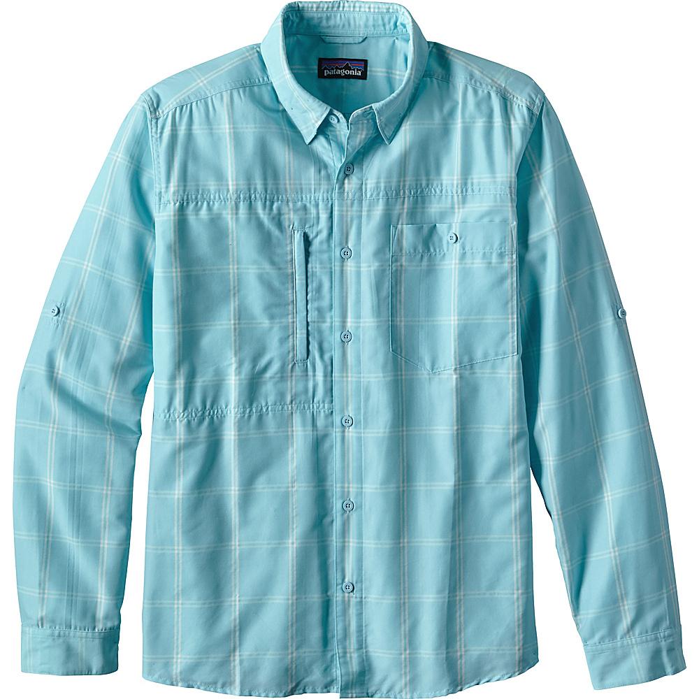 Patagonia Mens Long Sleeve Gallegos Shirt XS - Headwaters: Cuban Blue - Patagonia Mens Apparel - Apparel & Footwear, Men's Apparel