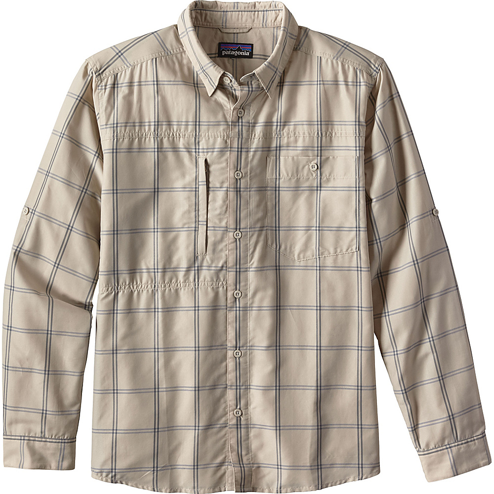 Patagonia Mens Long Sleeve Gallegos Shirt XS - Headwaters: El Cap Khaki - Patagonia Mens Apparel - Apparel & Footwear, Men's Apparel