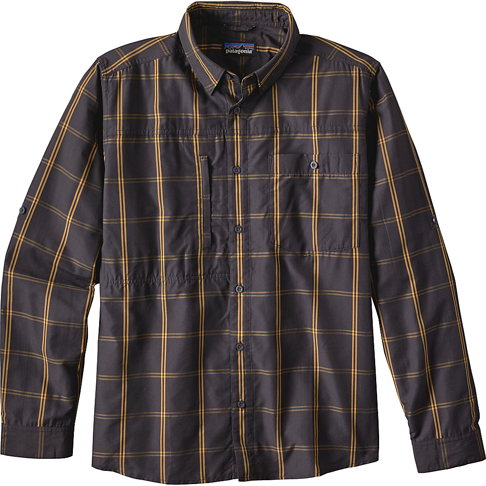 Patagonia Mens Long Sleeve Gallegos Shirt S - Headwaters: Ink Black - Patagonia Mens Apparel - Apparel & Footwear, Men's Apparel