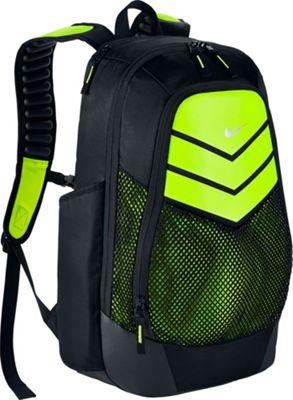 Nike Vapor Power Backpack Black/Volt/Metallic Silver - Nike Everyday Backpacks