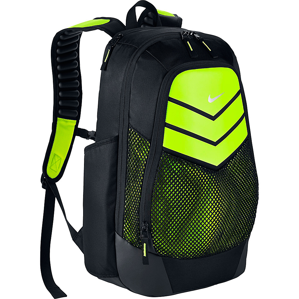 Nike Vapor Power Backpack Black Volt Metallic Silver Nike Everyday Backpacks