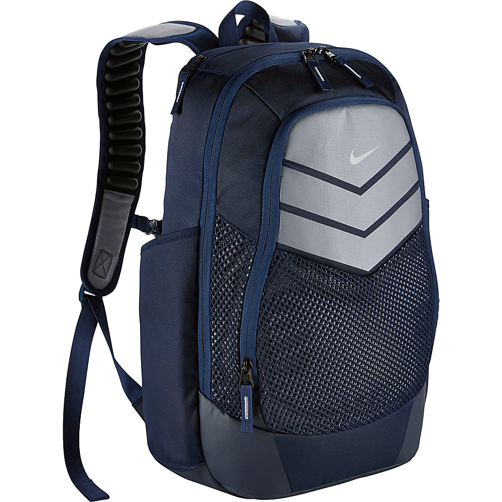 Nike Vapor Power Backpack Midnight Navy Wolf Grey Metallic Silver Nike Everyday Backpacks