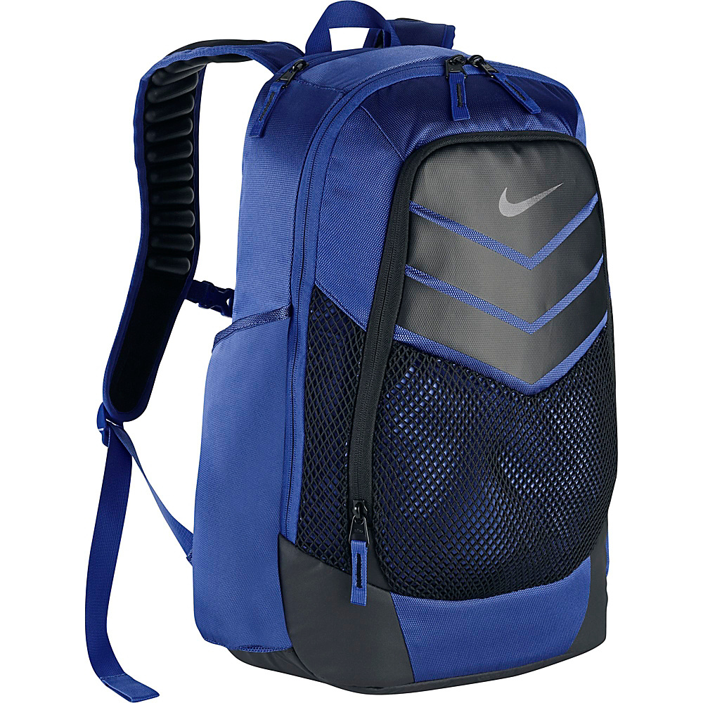 Nike Vapor Power Backpack Game Royal Black Metallic Silver Nike Everyday Backpacks