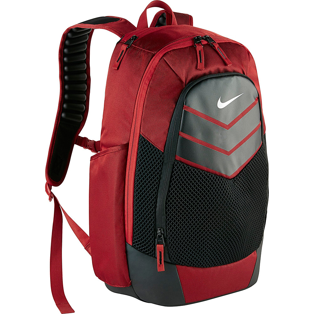 Nike Vapor Power Backpack Gym Red Black Metallic Silver Nike Everyday Backpacks