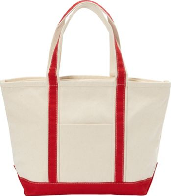 Rhombus Canvas Boat Tote Medium Red - Rhombus Canvas Fabric Handbags