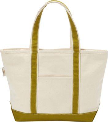 Rhombus Canvas Boat Tote Medium Green - Rhombus Canvas Fabric Handbags