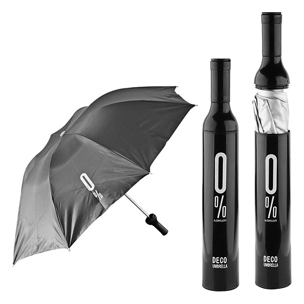 Koolulu Wine Umbrella Black Koolulu Umbrellas and Rain Gear