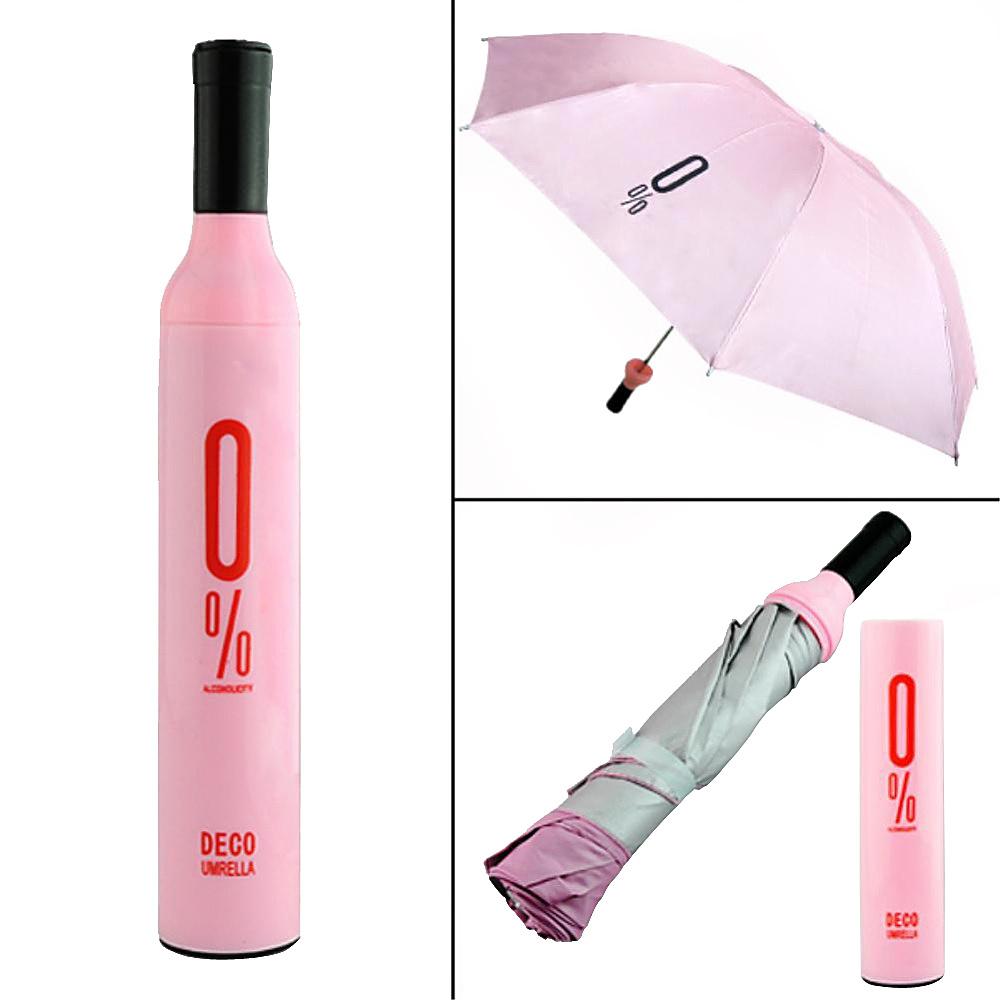 Koolulu Wine Umbrella Pink Koolulu Umbrellas and Rain Gear