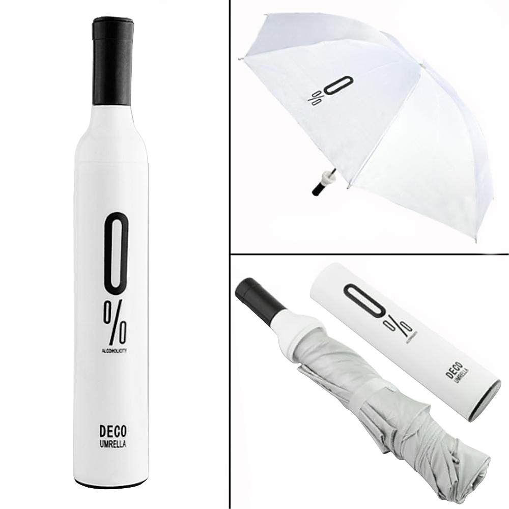 Koolulu Wine Umbrella White Koolulu Umbrellas and Rain Gear