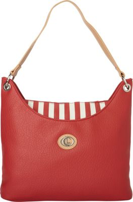 Aurielle-Carryland Stripes Hobo Red/White - Aurielle-Carryland Manmade Handbags