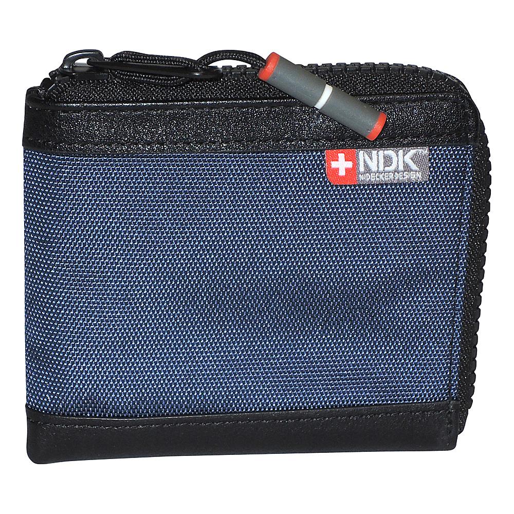 Nidecker Design Capital Collection Zip Around Wallet Indigo Nidecker Design Men s Wallets