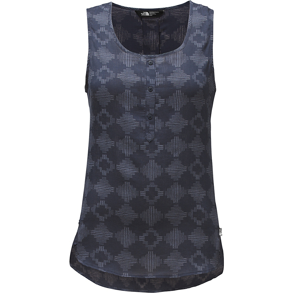 The North Face Womens Touring Tank M - Cosmic Blue Diamond Print - The North Face Womens Apparel - Apparel & Footwear, Women's Apparel