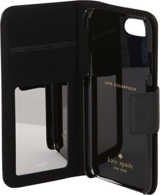 kate spade new york Leather Wrap Folio iPhone 7 Case Black/Cement - kate spade new york Electronic Cases