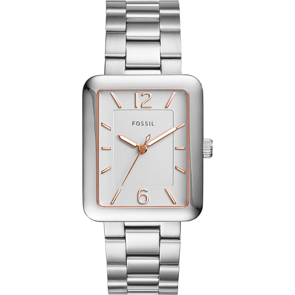 Fossil Atwater 3-Hand Stainless Steel Watch Silver - Fossil Watches - Fashion Accessories, Watches