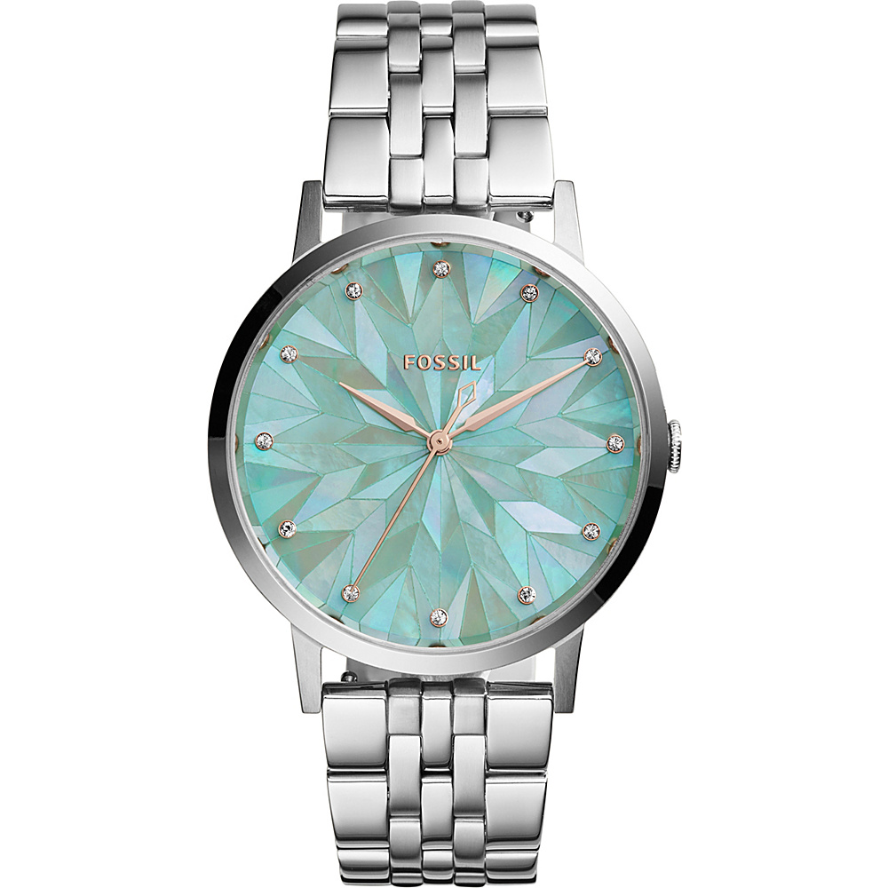 Fossil Vintage Muse 2-Hand Stainless Steel Watch Silver - Fossil Watches - Fashion Accessories, Watches