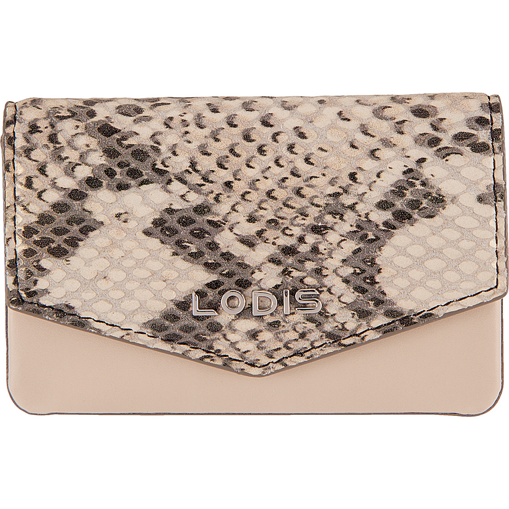 Lodis Kate Exotic Maya Card case Black/Taupe - Lodis Womens Wallets - Women's SLG, Women's Wallets