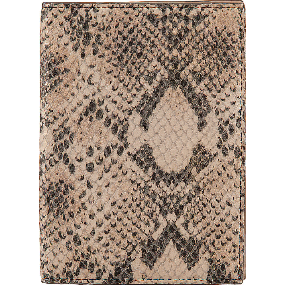 Lodis Kate Exotic Passport Cover Black/Taupe - Lodis Travel Wallets - Travel Accessories, Travel Wallets