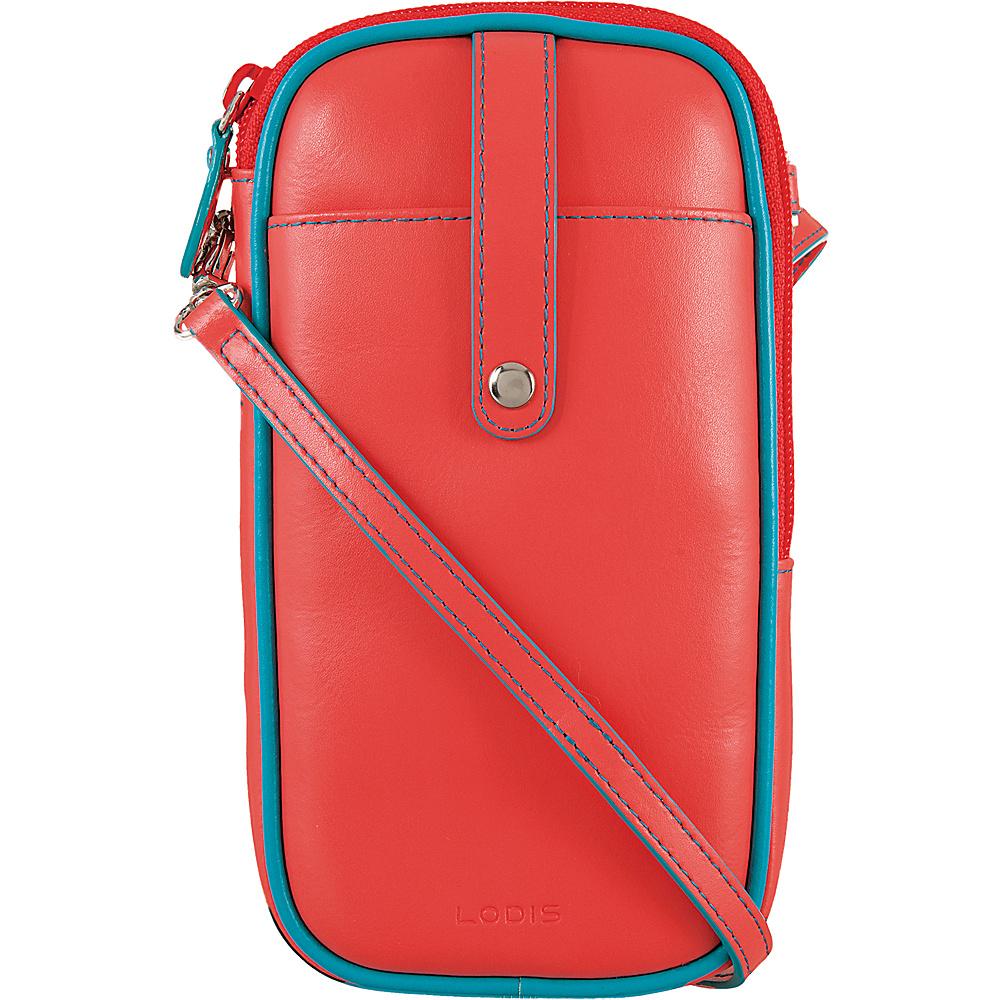 Lodis Audrey Blossom Mini Crossbody Coral/Turquoise - Lodis Leather Handbags - Handbags, Leather Handbags