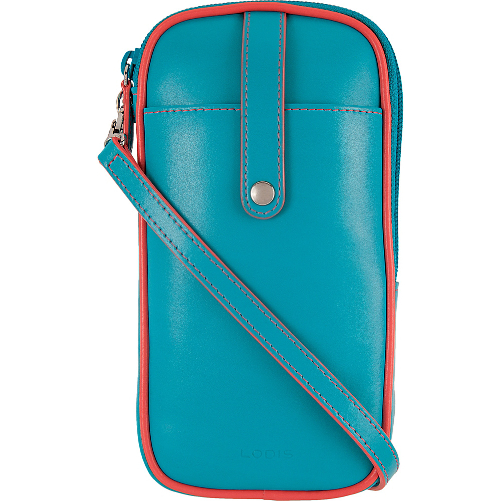 Lodis Audrey Blossom Mini Crossbody Turquoise/Coral - Lodis Leather Handbags - Handbags, Leather Handbags