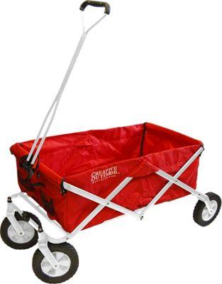 Creative Outdoor Original Folding Wagon Red/White - Creative Outdoor Outdoor Accessories