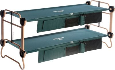Disc-O-Bed CamOBunk Large with 2 Organizers Green - Disc-O-Bed Outdoor Accessories