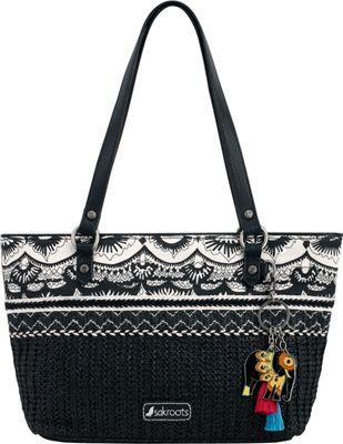 Sakroots Ellis Small Satchel Black & White One World - Sakroots Fabric Handbags