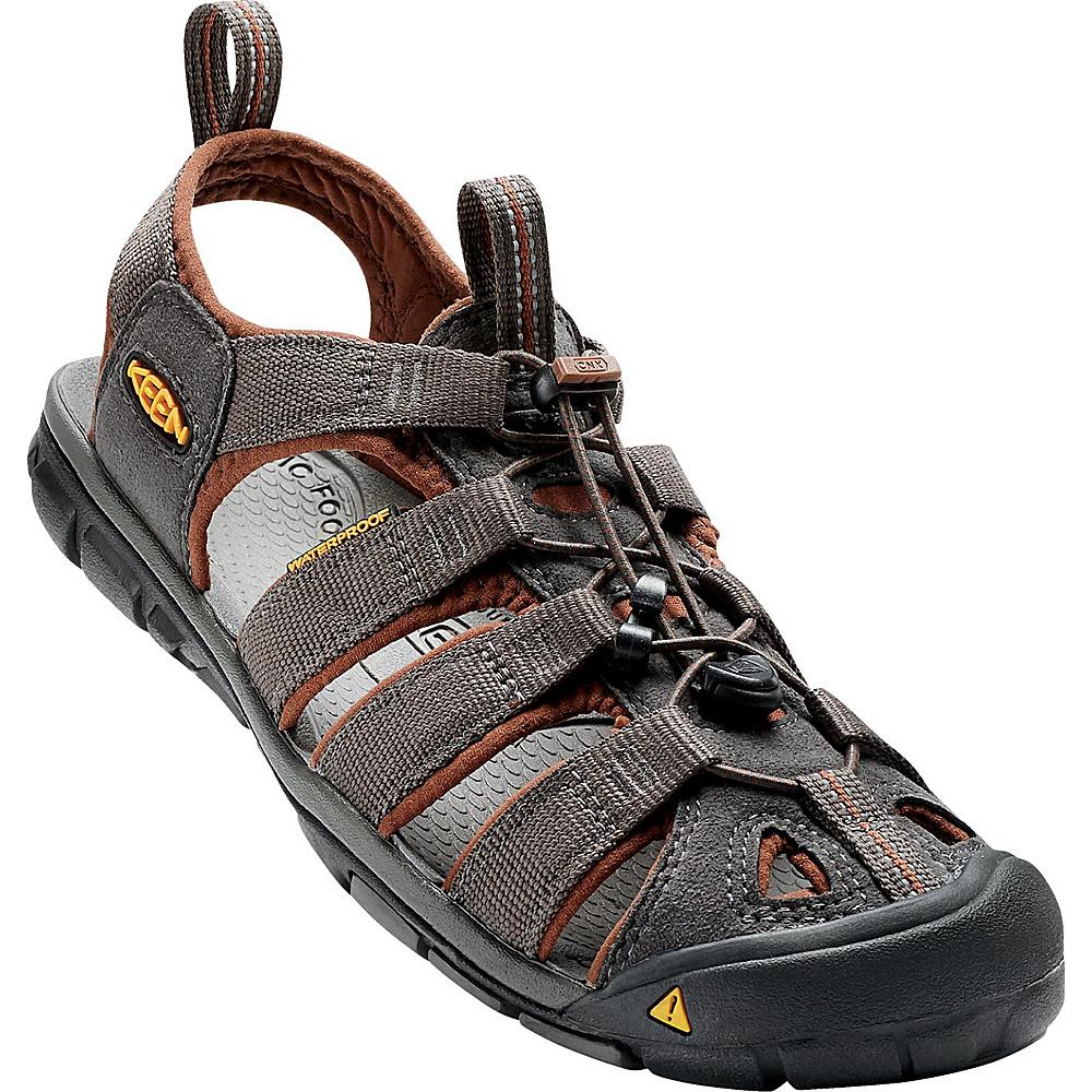 KEEN Mens Clearwater CNX Sandal 13 - Raven/Tortoise Shell - KEEN Mens Footwear - Apparel & Footwear, Men's Footwear