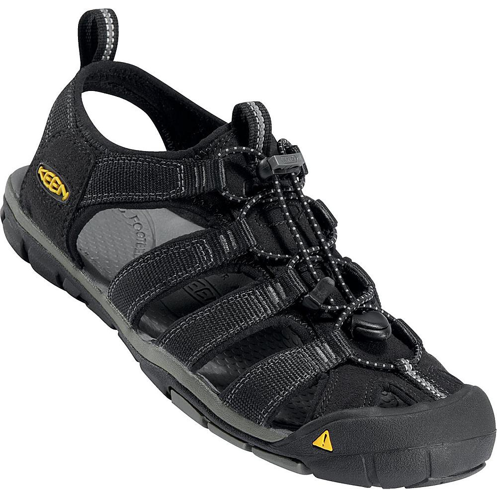 KEEN Mens Clearwater CNX Sandal 9 - Black / Gargoyle - KEEN Mens Footwear - Apparel & Footwear, Men's Footwear