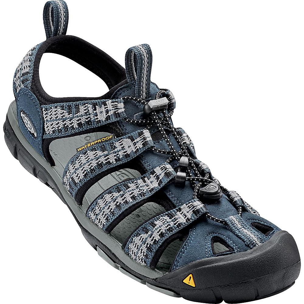 KEEN Mens Clearwater CNX Sandal 9.5 - Midnight Navy/Vapor - KEEN Mens Footwear - Apparel & Footwear, Men's Footwear