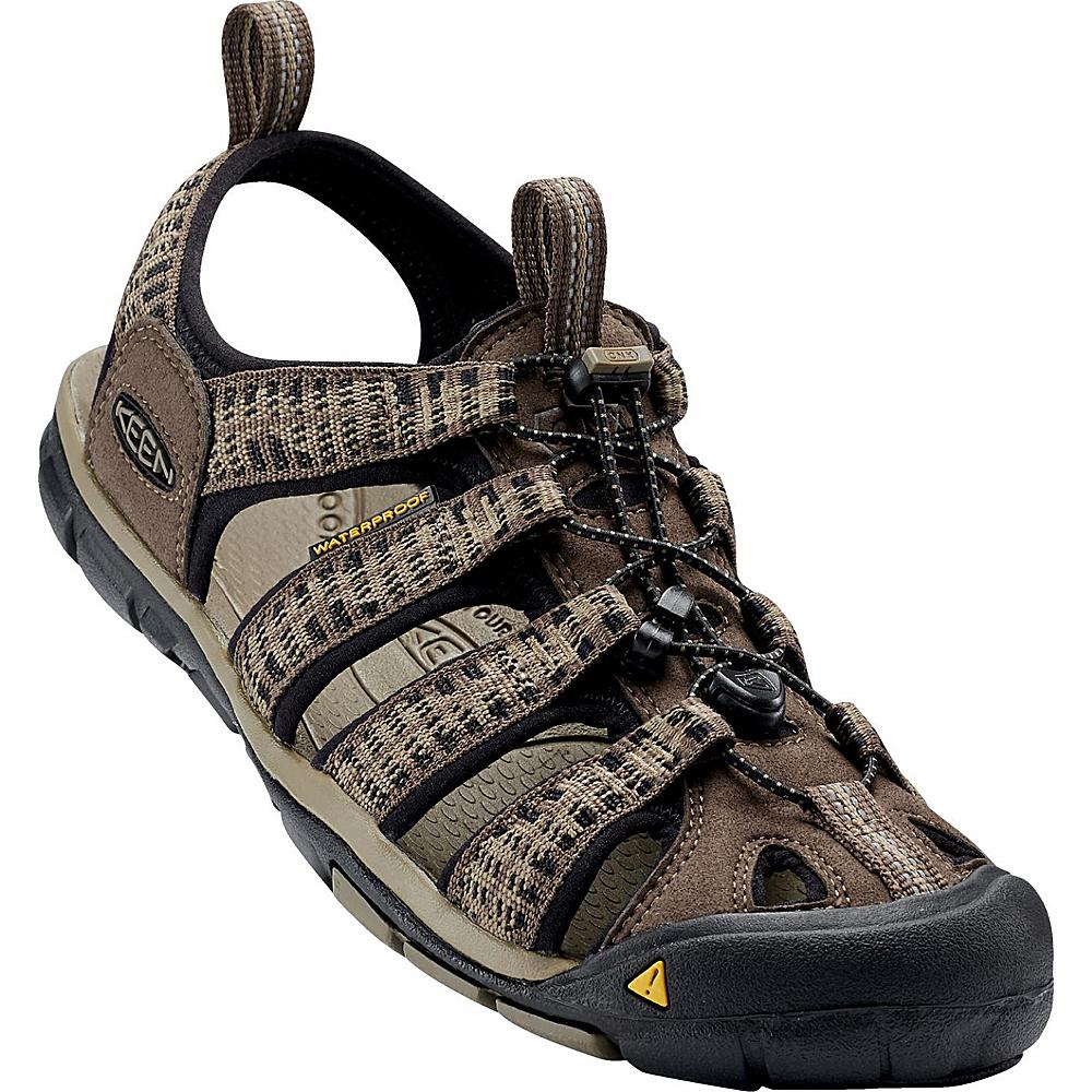 KEEN Mens Clearwater CNX Sandal 11.5 - Canteen/Brindle - KEEN Mens Footwear - Apparel & Footwear, Men's Footwear