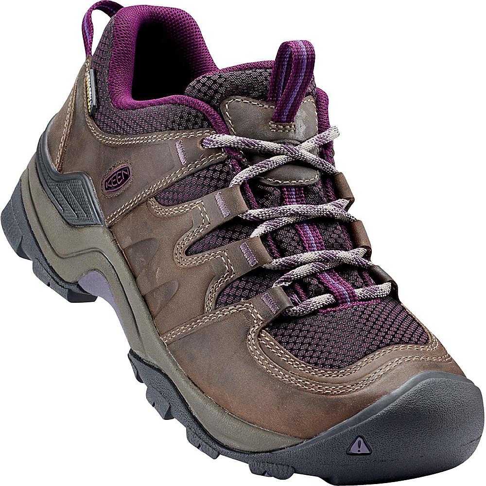 KEEN Womens Gypsum II Waterproof Boot 6 - Brindle/Dark Purple - KEEN Mens Footwear - Apparel & Footwear, Men's Footwear