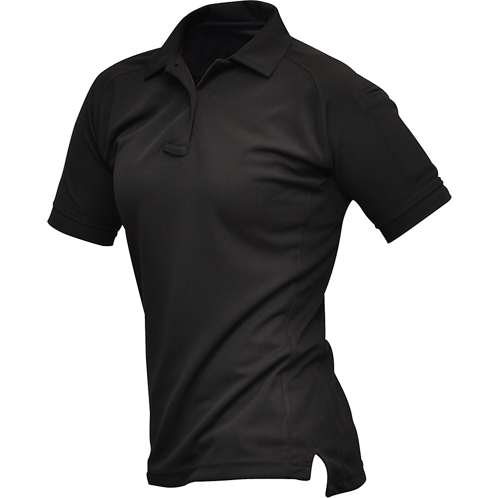Vertx Womens Coldblack Short Sleeve Polo M - Black - Vertx Womens Apparel - Apparel & Footwear, Women's Apparel
