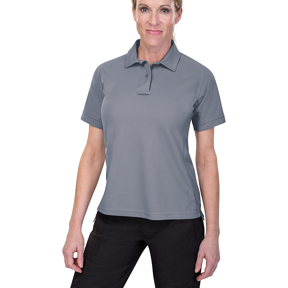 Vertx Womens Coldblack Short Sleeve Polo L - Grey - Vertx Womens Apparel - Apparel & Footwear, Women's Apparel