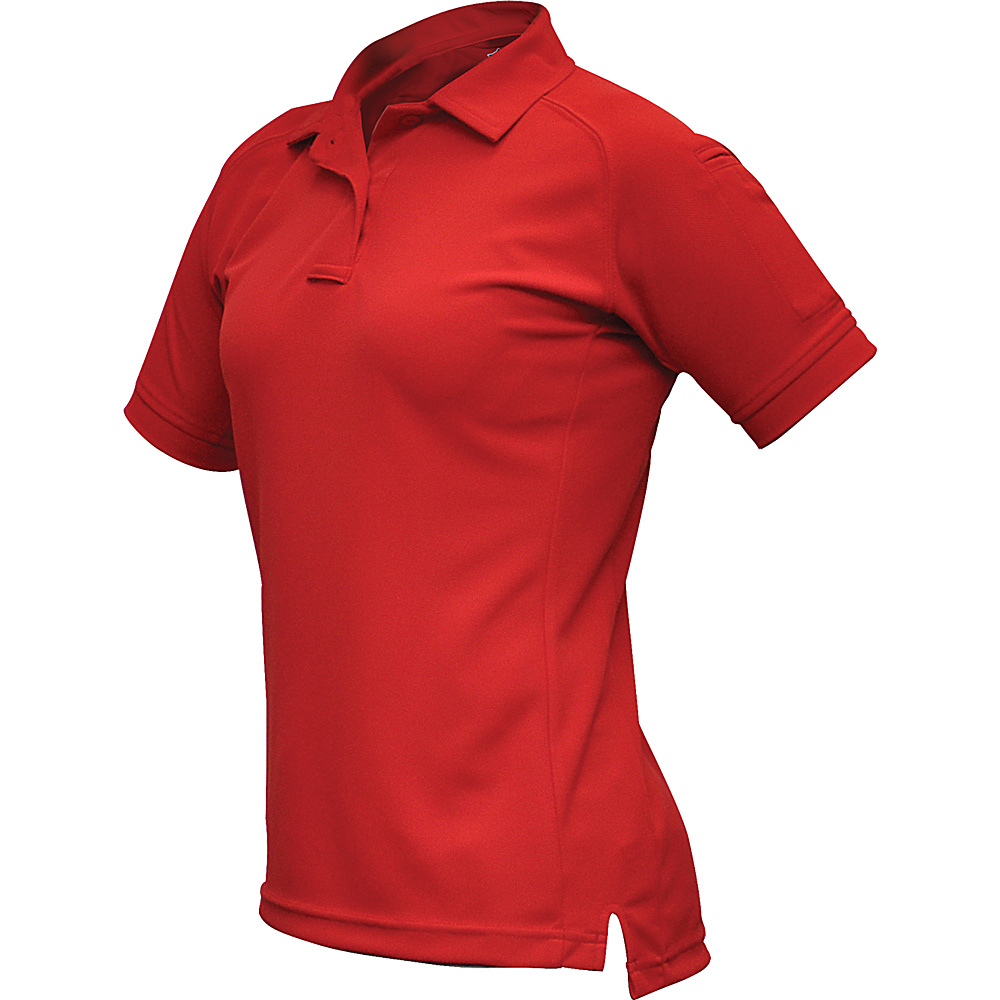 Vertx Womens Coldblack Short Sleeve Polo L - Red - Vertx Womens Apparel - Apparel & Footwear, Women's Apparel