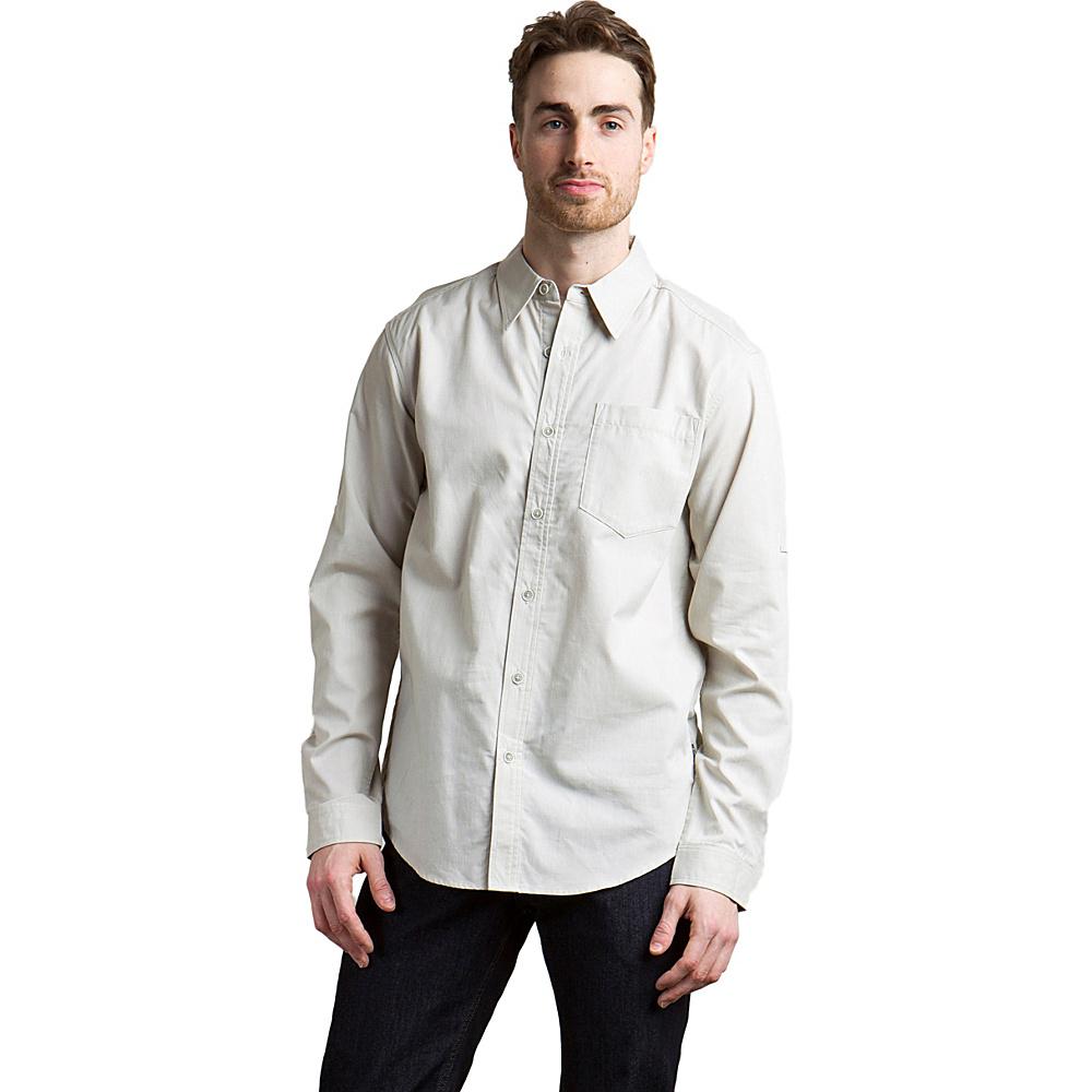 ExOfficio Mens Lampara Long Sleeve Shirt S - Lt Stone - ExOfficio Mens Apparel - Apparel & Footwear, Men's Apparel