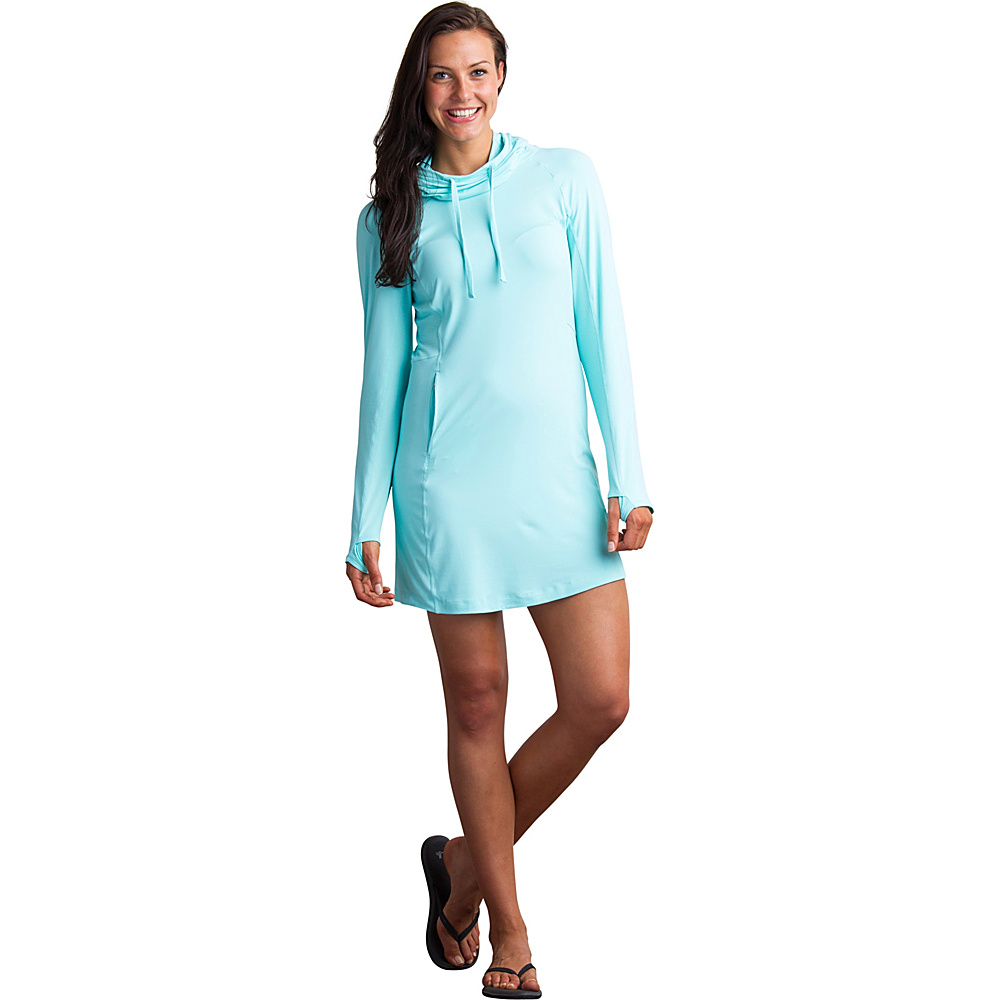 ExOfficio Womens Sol Cool Performance Hoody Dress M - Aruba - ExOfficio Womens Apparel - Apparel & Footwear, Women's Apparel