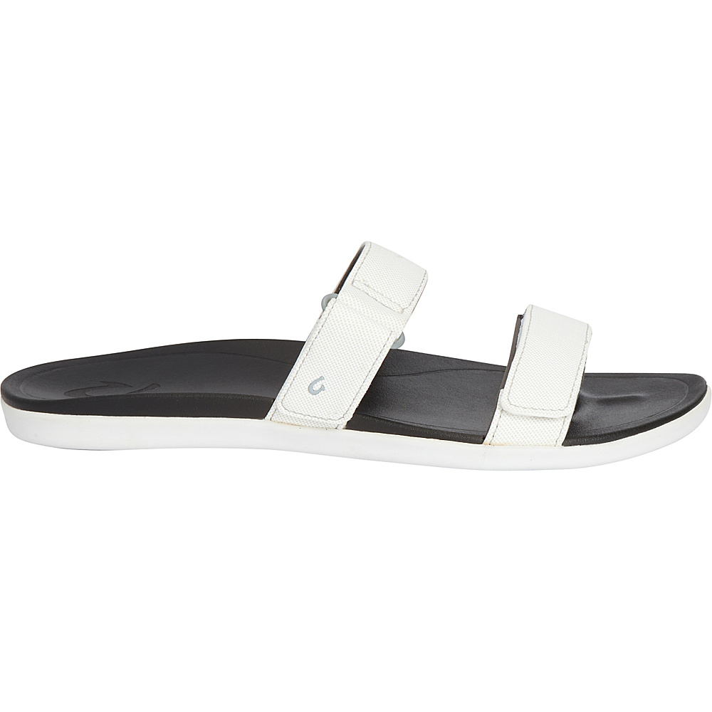 OluKai Womens Kipuka Sandal 5 - White/Black - OluKai Womens Footwear - Apparel & Footwear, Women's Footwear